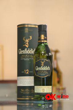 Виски Гленфиддик / Glenfiddich, 12 лет, 40%, 0.5л (тубус)