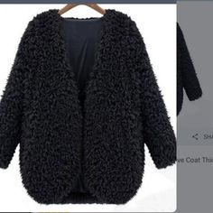 Black short fluffy jacket great for night out Great black fluffy jacket real bargain last one A.dopt.com Jackets & Coats