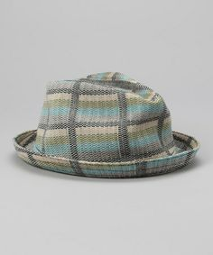 Take a look at this Green & Blue Plaid Fedora by Kangol on #zulily today!