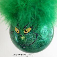 ~ Marilyn's Crafts ~: Grinch Ornament