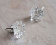 glass cluster earrings