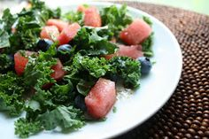 eat.drink.and be merry.: Watermelon, Blueberry, and Kale Salad
