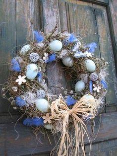 Easter Wreaths, Holiday Wreaths, Holiday Crafts, Easter Flower Arrangements, Easter Celebration, Easter Holidays, Easter Crafts, Handmade Crafts, Happy Easter