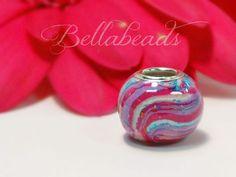 Flower Petal Keepsake Beads, Memorial Bouquet Charms, Memorial Beads, Funeral Flowers, Wedding Flowers, Bouquet Charm,Large Hole Charm Round