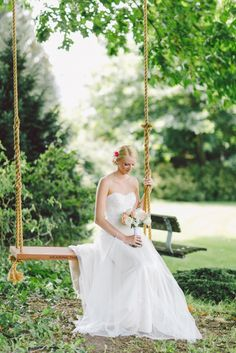 Fabulous photos by elleandrblog.com with Rosedale Swing Company tree swings     Katrina&Nico-34