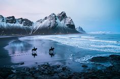 Horses in Iceland. Image by San Luis Obispo-based photographer, Chris Burkard.