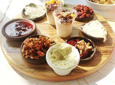 Vegan brunch at Cafe Louise, Tel Aviv, Israel