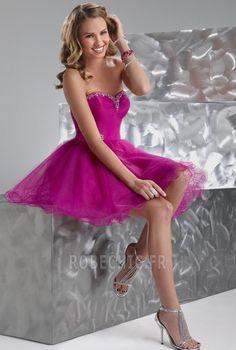 A-Line Mini/Short-Length Sweetheart Beadings Prom Dresses Strapless Prom Dresses, V Neck Prom Dresses, Tulle Prom Dress, Homecoming Dresses, Bridesmaid Dresses, Quinceanera Dresses, Bridesmaids, Inexpensive Prom Dresses, Cheap Prom Dresses