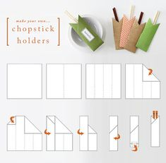 Make Your Own Chopstick Holders - perfect for a dinner party!