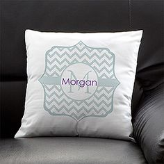 LOVE these cute chevron pillows! You can choose your color and add your monogram too!