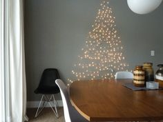 This would be a cute idea for the homeschool room or the kids' rooms - instead of putting up a tree.