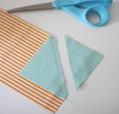 when sewing triangles on corners of blocks, sew another line 1/2 in away from the first and cut it off.