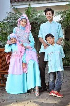 Busana Muslim Couple Keluarga Ayah Ibu dan Anak | Model Trend Baju dan Busana Muslim