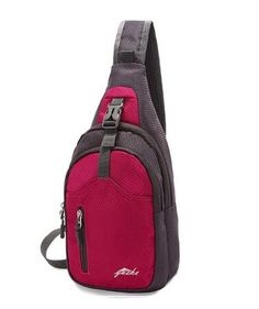"Sling Bag Chest Shoulder Unbalance Gym Fanny Backpack Sack Satchel Outdoor Bike - Purple Red Dimension: 39cm height / 19cm width / 11cm depth MULTIPLE STORAGE PURPOSE SLING BAG: Two large zippered compartments with small inner pouches. Each zipper of the knapsack has a plastic pull on it, so you can easily grip it. Larger zippered compartment can hold bottle (e.g. two small 7 or 8 ounces bottles) or Tablet such as Samsung Tab or iPad (up to 8""). Smaller zippered compartment can hold things…"