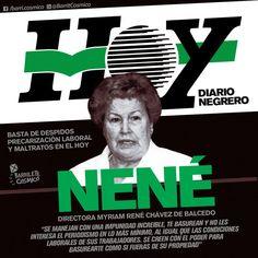 "Sobre ""Nene"" Chávez de Balcedo, Directora del Diario Hoy. #Represión #ViolenciaInstitucional // #DiarioHoy #LaPlata"