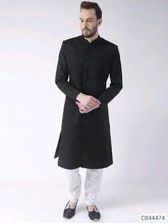 Sherwani with pant For Men: Buy Indian Mens Wedding Sherwani Online India Hello friends today we bring for u sherwani for men . Mens Sherwani, Wedding Sherwani, Muslim Men Clothing, Mens Ethnic Wear, Achkan, Nehru Jackets, White Silk, Black White, Men Online
