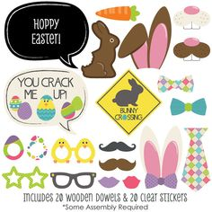 Easter  Photo Booth Props  Photobooth Kit  Custom Talk