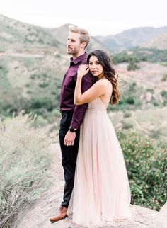 Romantic Mountainside Engagement Photos - Inspired By This