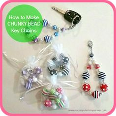 How to Make CHUNKY BEAD Key Chains. Get your supplies at www.fizzypops.com