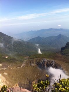 View from mt. Gede