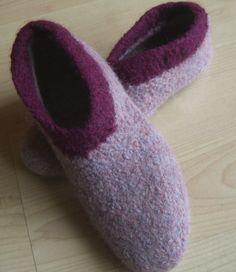Hausschuhe - Filzschuhe Filzpantoffeln nach Wahl - ein Designerstück von muetzen-shop bei DaWanda