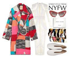 """New York Fashion Week Street Style"" by kimmytoast ❤ liked on Polyvore featuring Balmain, Roksanda, River Island, Bobbi Brown Cosmetics, STELLA McCARTNEY, Prabal Gurung, women's clothing, women, female and woman"
