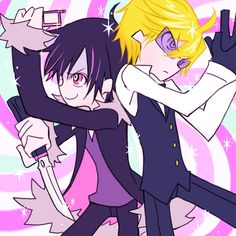 panty stocking crossover | of the Panty and Stocking cross over but I think Izaya would be Panty ...