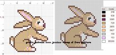 free rabbit cross stitch pattern