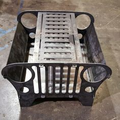 This collapsible Jeep Fire Pit is portable and easy to put together wherever your adventure takes you. It is made of steel and breaks down into 6 pieces.