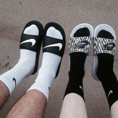Nike slippers for summertime.
