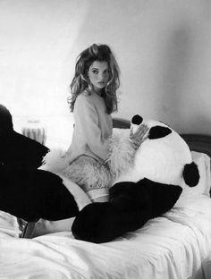 Kate and panda.