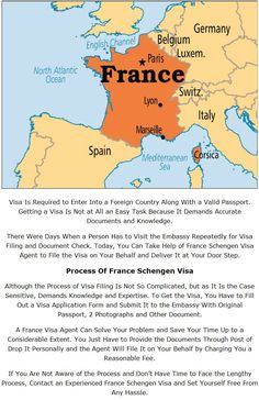 #France Visa Is Required to Enter Into a Foreign Country Along With a Valid Passport. Getting a #Visa Is Not at All an Easy Task Because It Demands Accurate #Documents and Knowledge.