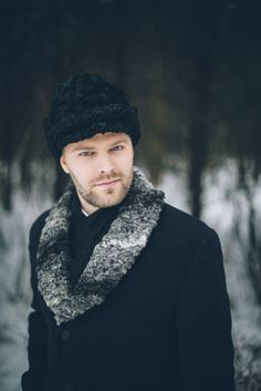 Traditional Estonian Winter Groom Style | onefabday.com