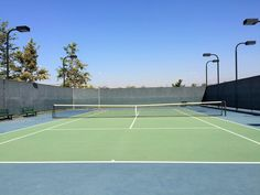 The first of two tennis courts at Mountain View Park in Eastvale, California. http://youreastvalerealtor.com/eastvale-parks/