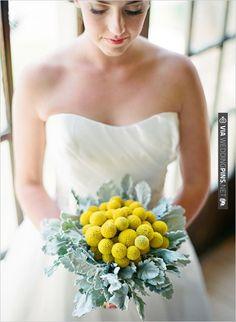 billy button wedding bouquet   VIA #WEDDINGPINS.NET