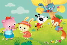 La Vetrina di: Federica Iossa   Creathead Cute Animal Illustration, Children's Book Illustration, Painting For Kids, Art For Kids, Kids Story Books, Cute Pigs, Diy Frame, Craft Stick Crafts, Paper Gifts