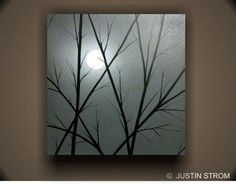 MoonlightOriginal Abstract Painting by Justin Strom by PaintAddict, $169.99