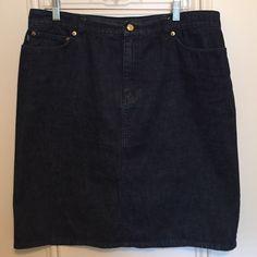 Dark denim Jean skirt Ralph Lauren, Lauren jeans company Jean skirt. Size 16. Dark denim. Hits at the knee Ralph Lauren Skirts