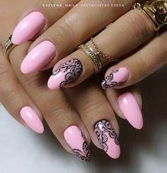 The most popular pink acrylic nails design ideas easy to copy Pink Acrylic Nail Designs, Pink Acrylic Nails, Colorful Nail Designs, Nail Art Designs, Lace Nail Design, Nails Design, Jolie Nail Art, Champagne Nails, Exotic Nails