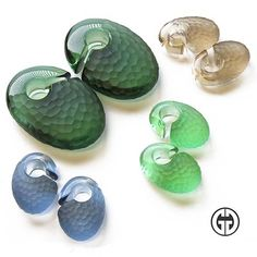 Gorilla Glass: Pair of Glass Martele Solid Ovoids - Body Jewelry