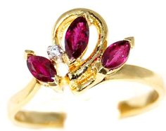 Flower Marquise Ruby and Diamond Ring 18K Yellow Gold [R0052] BKGjewelry http://www.amazon.com/dp/B00BRJ1HT6/ref=cm_sw_r_pi_dp_IrnGwb1TAWFTR
