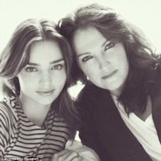 'Happy birthday!' Miranda Kerr puts rumours of a rift with her mother Therese to rest wit...