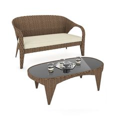 Relish Your Summer Days And Nights With This Sofa And Table Combination In  Our Two Tone