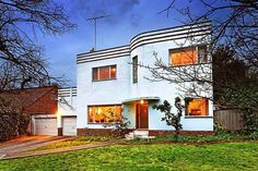 Art deco house, Hawthorn, Melbourne.