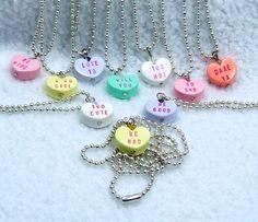 convo heart necklaces