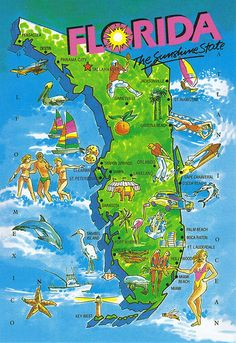 Florida Gulf Coast Map | Florida in 2019 | Florida, Florida beaches ...