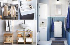 baños pekeños Home Reno, Double Vanity, Cabinet, Bathroom, Storage, Furniture, Environment, Laundry Rooms, Bathrooms