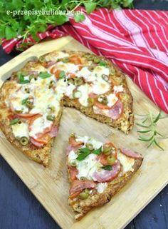 Dietetyczna pizza na otrębowym spodzie | Przepisy Kulinarne Pizza Recipes, Diet Recipes, Snack Recipes, Healthy Recipes, Diet Pizza, Best Food Ever, Bon Appetit, Vegetable Pizza, Healthy Snacks