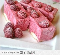 Raspberry mousse with mascarpone ( recipe in Polish ) Mascarpone Recipes, Cheesecake, Raspberry Mousse, Pavlova, Ale, Cereal, Food And Drink, Favorite Recipes, Sweets