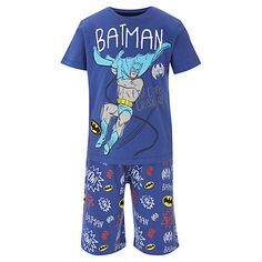 Buy Batman Themed Pyjamas, Blue Online at johnlewis.com